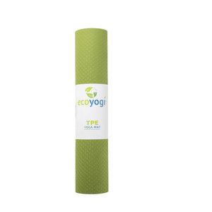 Ecoyogi TPE Yogamatte Grün/Schwarz (6mm)