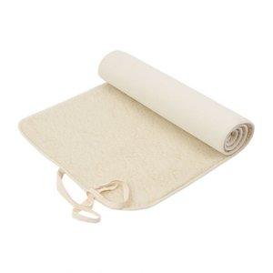 Ecoyogi Natürliche Schafwoll-Yogamatte mit Saum  und Tasche