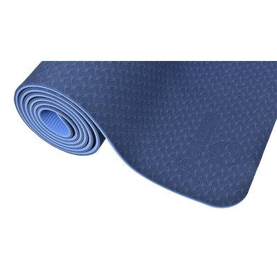 Ecoyogi  TPE Yogamatte Blau/blau (6mm)