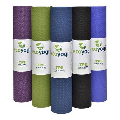 Ecoyogi  TPE Yogamatte Aubergine (6mm)
