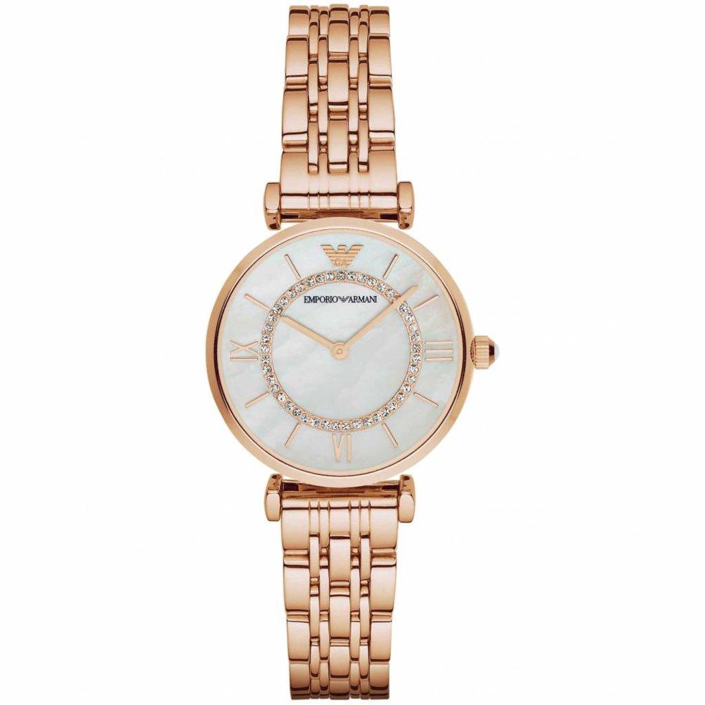 Damen Uhr Gold Emporio Rosegold Ar1909 Damenuhr Armani KcTlFJ1