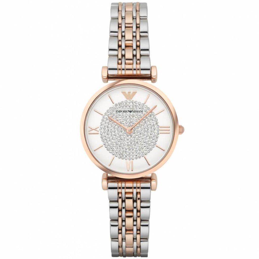 best service thoughts on crazy price EMPORIO ARMANI Damenuhr AR1926 rosegold Uhr Damen Bicolor