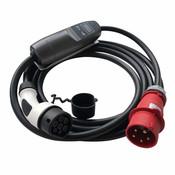 Khons Type 2 Portable Laadpunt met Rode CEE - 32A 3 fase plug (5 meter)