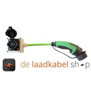 Ratio laadkabels Kabel adapter Type 1 male - type 2 female 1 meter