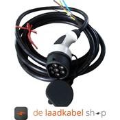 Ratio 16A 1 fase aansluitkabel met Female type 2 stekker - Kabel op maat