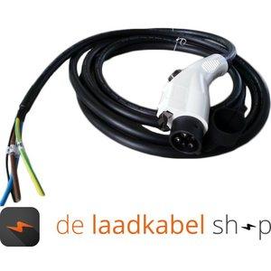 Ratio 32A 1 fase aansluitkabel met Female type 1 stekker - Kabel op maat