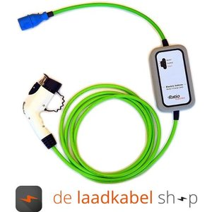 Ratio laadkabels Type 1 female portabel Thuislader CEE - 16A 1 fase 10 meter