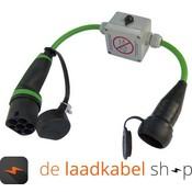 Ratio Adapter voor type 2 stopcontact naar normaal stopcontact (Shuko) - Met sleutel Schakelaar (0,5 meter)