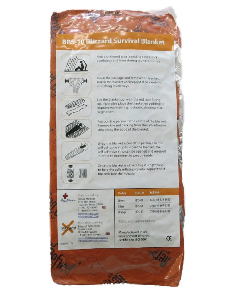 Persys Medical Blizzard Survival Blanket