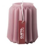 Donker roze deco kaars