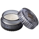 HM Scented candle Ribbed glass blue