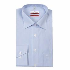 MarVelis MarVelis strijkvrij overhemd Modern Fit blauw-wit gestreept, New Kent