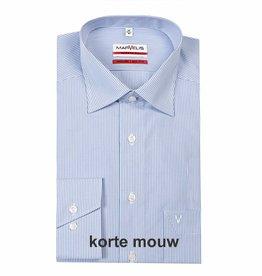 MarVelis MarVelis Modern Fit blauw-wit gestreept, New Kent, Korte mouw