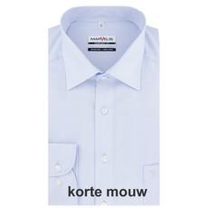 MarVelis MarVelis strijkvrij overhemd Comfort Fit blue, New Kent, Korte mouw