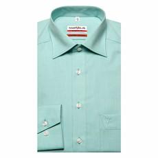 MarVelis MarVelis Chambray strijkvrij overhemd Modern Fit licht groen met New Kent kraag.