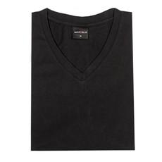 MarVelis MarVelis Single Jersey T-shirts zwart met V-hals