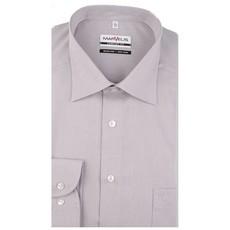 MarVelis MarVelis Chambray strijkvrij overhemd Comfort Fit, licht grijs met New Kent kraag.