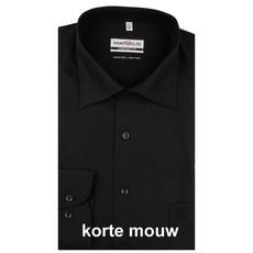 MarVelis MarVelis strijkvrij overhemd Comfort Fit zwart, New Kent, Korte mouw