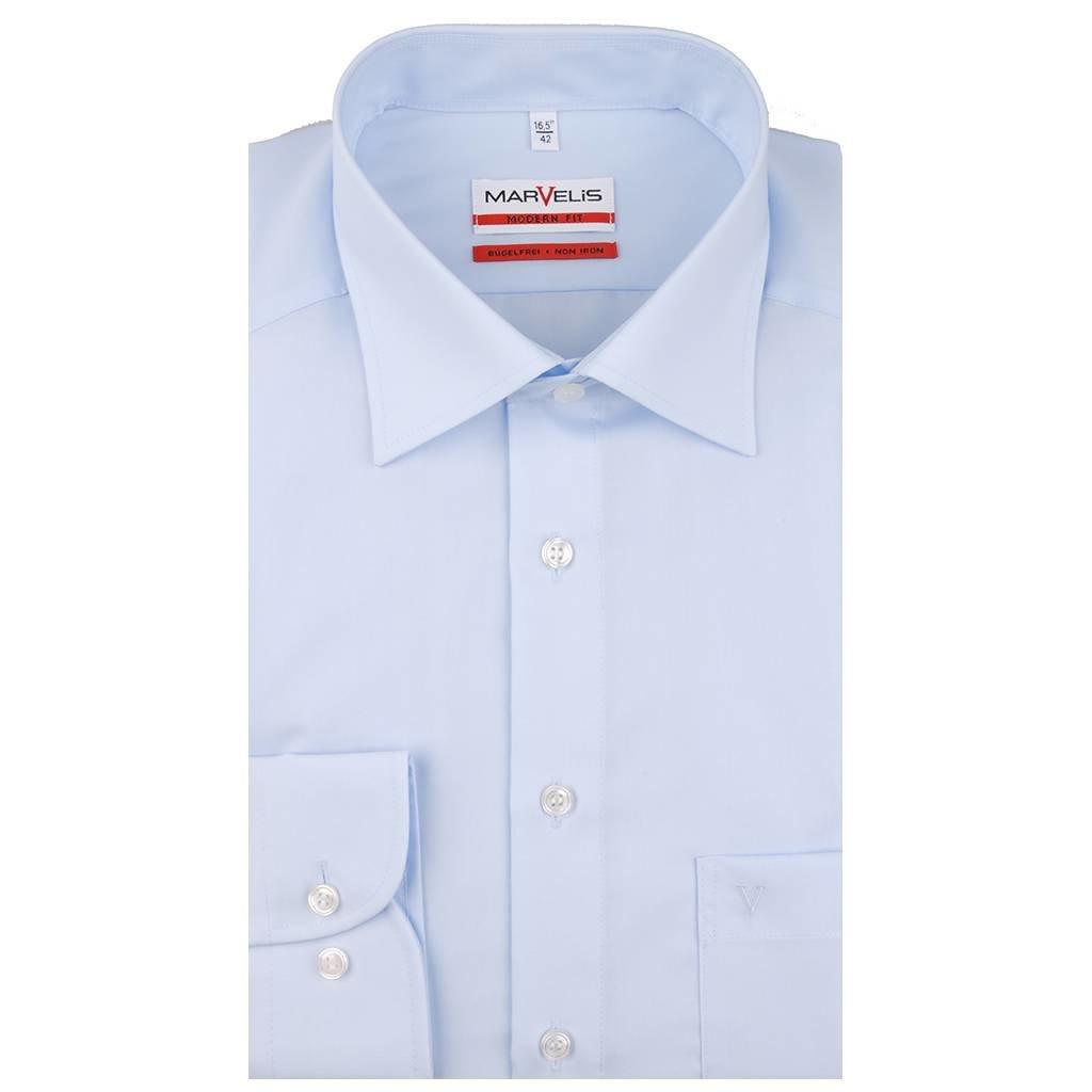 MarVelis MarVelis strijkvrij overhemd Modern Fit blue, New Kent
