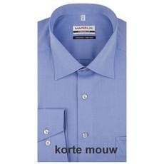 MarVelis MarVelis Chambray strijkvrij overhemd Comfort Fit korenblauw, New Kent, Korte mouw