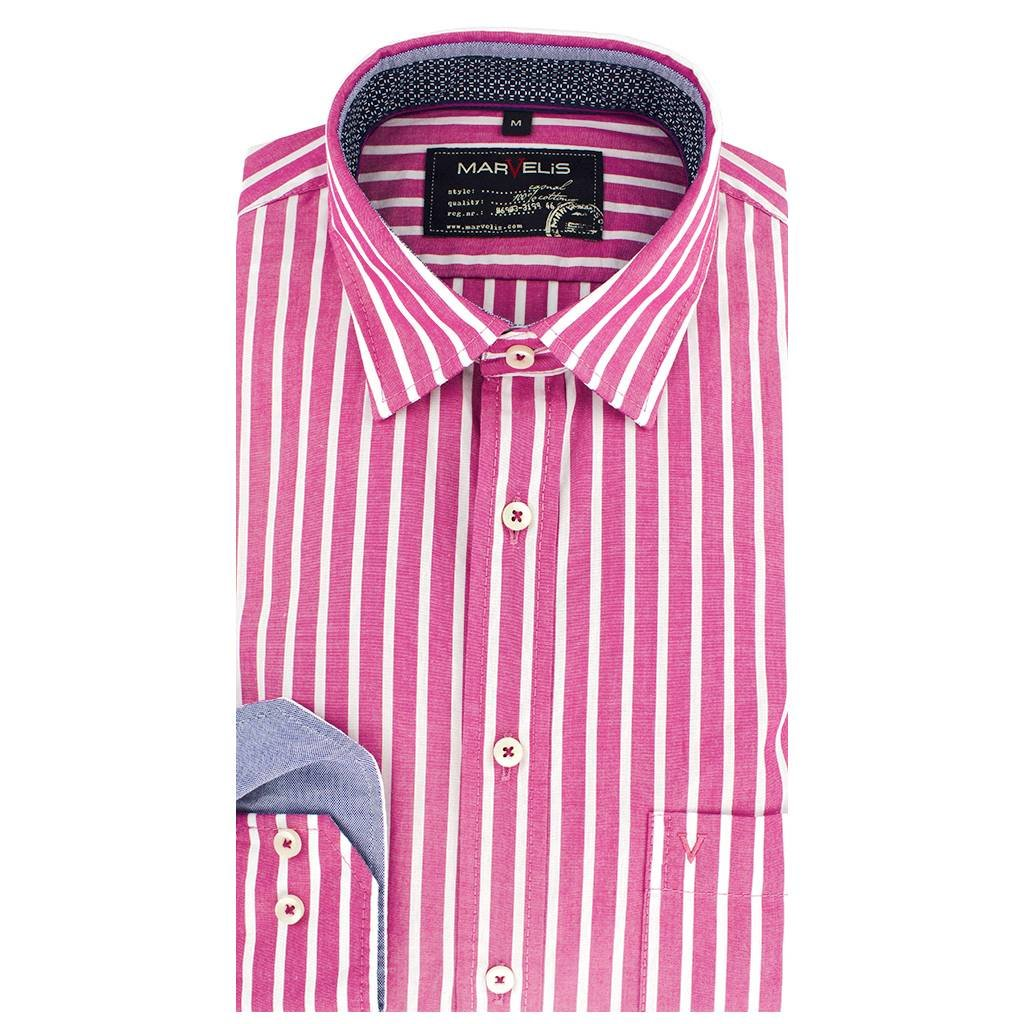 Casual Overhemd.Casual Overhemd Gestreept New Kent Kraag 6010 74 81 Q Fashion Eu