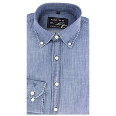 MarVelis Casual overhemd denim look, New Kent kraag