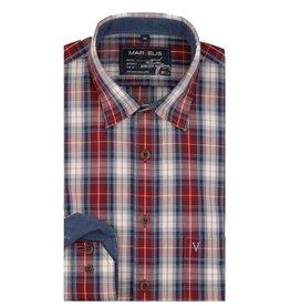 MarVelis Casual overhemd geblokt, New Kent kraag