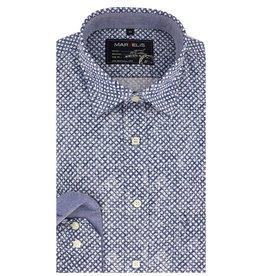 MarVelis Casual overhemd denim look, New Kent kraag