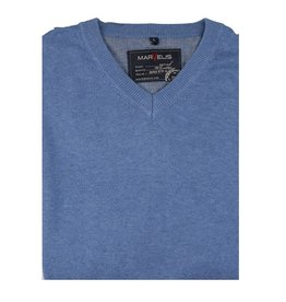 MarVelis MarVelis Pullover gemeleerd blauw
