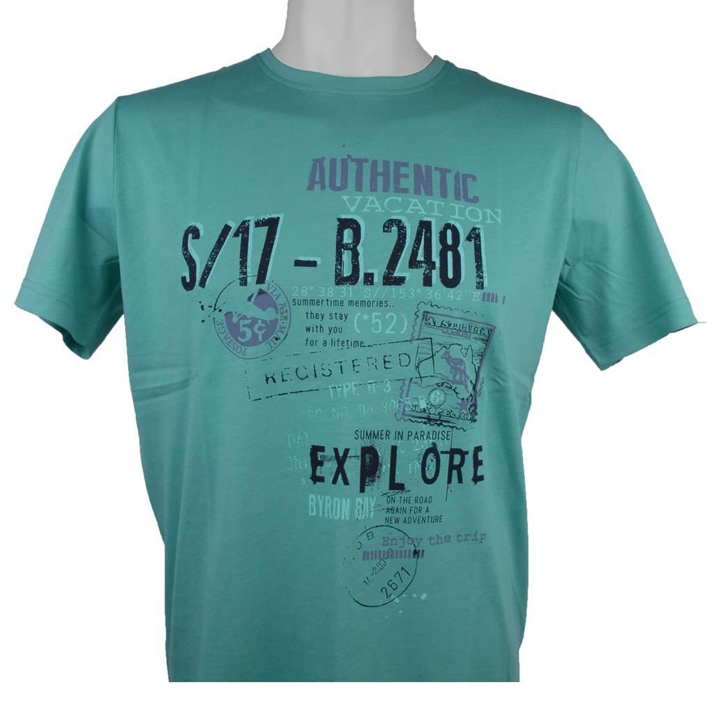 MarVelis MarVelis T-shirt groen met print