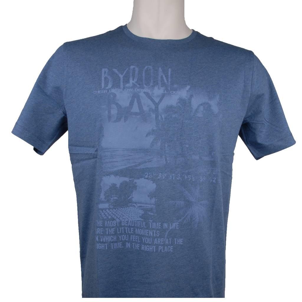 MarVelis MarVelis T-shirt blauw met print