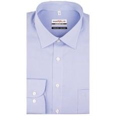 MarVelis MarVelis Comfort Fit blauw-wit geblokt, New Kent kraag