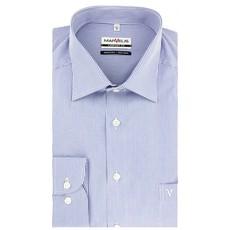 MarVelis MarVelis strijkvrij overhemd Comfort Fit blauw-wit gestreept, New Kent