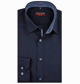 MarVelis MarVelis overhemd donkerblauw met contrast Body Fit, New York Kent kraag