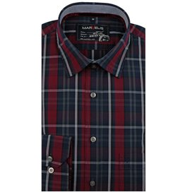 MarVelis Casual overhemd fraai gekleurd , New Kent kraag