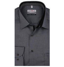 MarVelis MarVelis strijkvrij overhemd zwart motief met contrast Comfort Fit, New Kent kraag