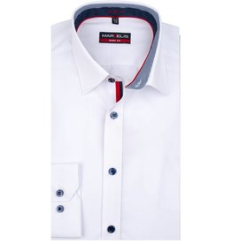 Wit Getailleerd Overhemd.Marvelis Easy Care Overhemden Body Fit Q Fashion Q Fashion Eu
