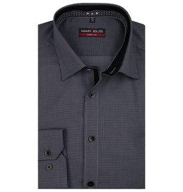 MarVelis MarVelis overhemd zwart motief  dubbel contrast Body Fit, New York Kent kraag