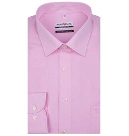 MarVelis MarVelis strijkvrij overhemd chambray roze Comfort Fit, New Kent kraag