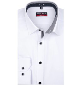 MarVelis MarVelis overhemd wit  dubbel contrast Body Fit, New York Kent kraag