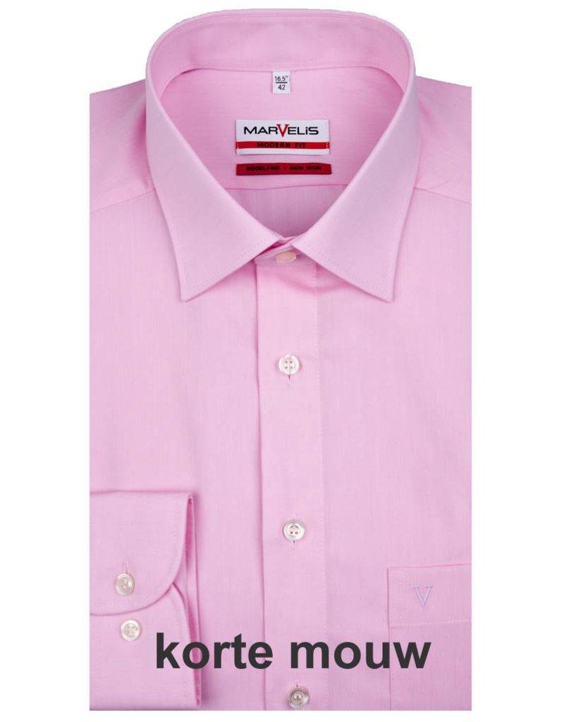 Roze Overhemd.Marvelis Strijkvrij Overhemd Roze Modern Fit Q Fashion Q Fashion Eu