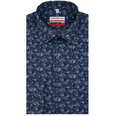 MarVelis MarVelis strijkvrij overhemd blue flower print Modern Fit, New Kent kraag