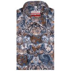 MarVelis MarVelis strijkvrij overhemd  print Modern Fit, New Kent kraag