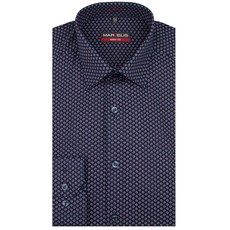 MarVelis MarVelis overhemd blue-red print Body Fit, New York Kent kraag
