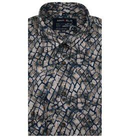 MarVelis Casual shirt print, New Kent Kraag
