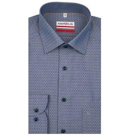 MarVelis MarVelis strijkvrij overhemd lichtblauw  met contrast Modern Fit,  New Kent kraag