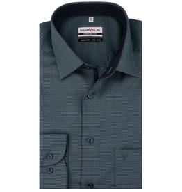 MarVelis MarVelis strijkvrij overhemd groen met contrast Comfort Fit, New Kent kraag