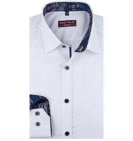 MarVelis MarVelis overhemd extra lange mouw wit Body Fit, New York Kent kraag