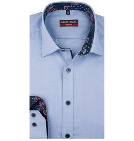 MarVelis MarVelis overhemd extra lange mouw light blue motief Body Fit, New York Kent kraag