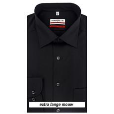 MarVelis MarVelis strijkvrij overhemd Modern Fit zwart extra lange mouw, New Kent
